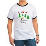 I Love Skiing Ringer T