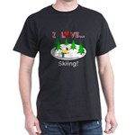 I Love Skiing Dark T-Shirt