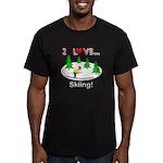 I Love Skiing Men's Fitted T-Shirt (dark)