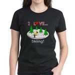I Love Skiing Women's Dark T-Shirt