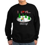 I Love Skiing Sweatshirt (dark)