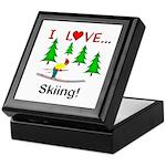 I Love Skiing Keepsake Box