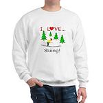 I Love Skiing Sweatshirt