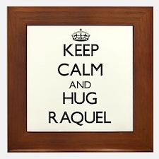 Keep Calm and HUG Raquel Framed Tile