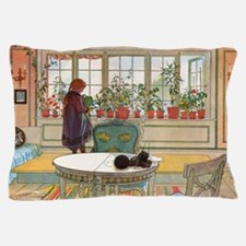 Flowers on the Windowsill by Carl Lars Pillow Case