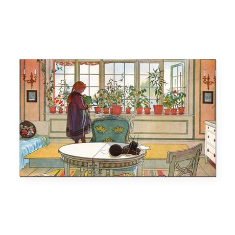 Flowers on the Windowsill by Rectangle Car Magnet