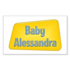 Baby Alessandra Rectangle Decal
