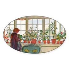 Flowers on the Windowsill by Carl L Decal