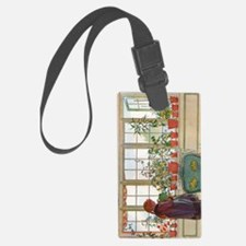 Flowers on the Windowsill by Car Luggage Tag