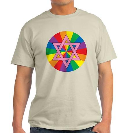 GAY JEWISH STAR OF DAVID Light T-Shirt
