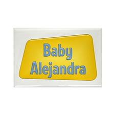 Baby Alejandra Rectangle Magnet
