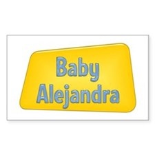 Baby Alejandra Rectangle Decal