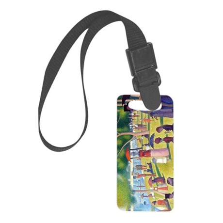 A Sunday Afternoon on La Grande Small Luggage Tag