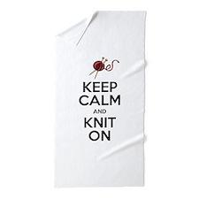 Knit On Beach Towel