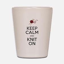 Knit On Shot Glass