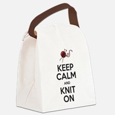 Knit On Canvas Lunch Bag