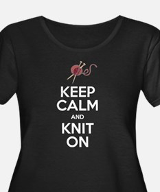 Knit On Plus Size T-Shirt