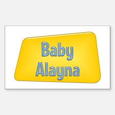 Baby Alayna Rectangle Decal