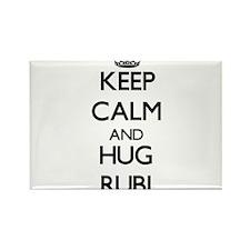 Keep Calm and HUG Rubi Magnets