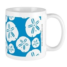 Sanddollar Beach Summer Blue Mugs