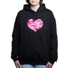 Pink Camo Heart Hooded Sweatshirt