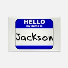 hello my name is jackson Rectangle Magnet