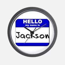 hello my name is jackson  Wall Clock
