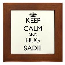 Keep Calm and HUG Sadie Framed Tile