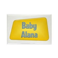 Baby Alana Rectangle Magnet