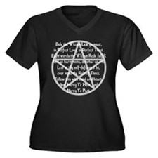 """""""Wiccan Rede"""" Women's Plus Size V-Neck Dark T-Shir"""