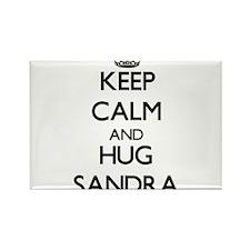 Keep Calm and HUG Sandra Magnets