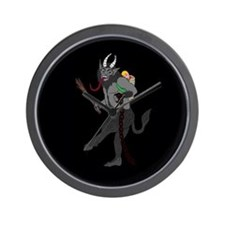 Krampus Christmas Wall Clock
