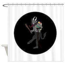 Krampus Christmas Shower Curtain