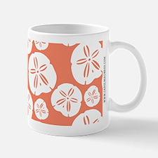 Sandollar Beach Summer Coral Orange Mugs