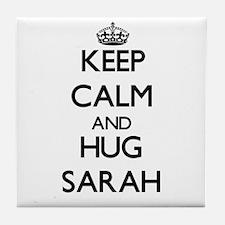 Keep Calm and HUG Sarah Tile Coaster
