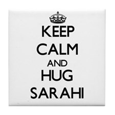 Keep Calm and HUG Sarahi Tile Coaster