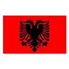 Albania Flag Rectangle Decal