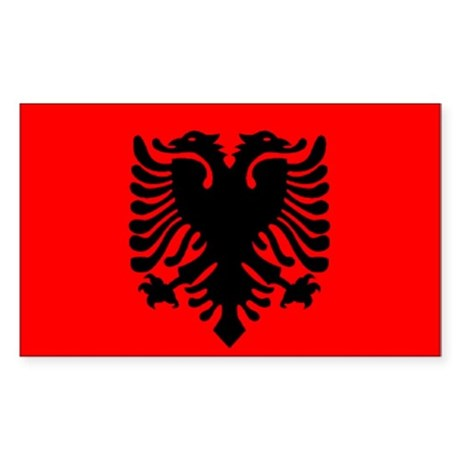 Albania Flag Rectangle Sticker