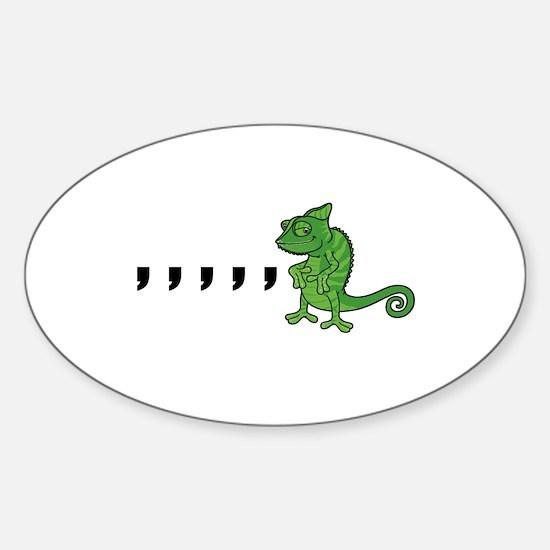 Comma Chameleon Decal