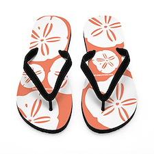 Sandollar Beach Summer Coral Orange Flip Flops
