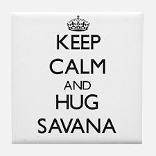 Keep Calm and HUG Savana Tile Coaster