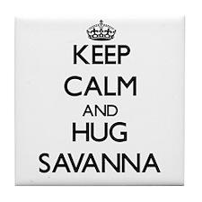 Keep Calm and HUG Savanna Tile Coaster