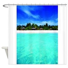 Island from the sea Shower Curtain
