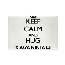 Keep Calm and HUG Savannah Magnets