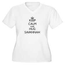 Keep Calm and HUG Savannah Plus Size T-Shirt