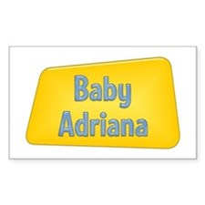 Baby Adriana Rectangle Decal