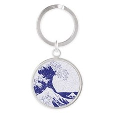 The Great Wave off Kanagawa (?????? Round Keychain