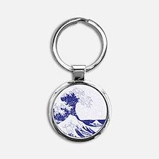 The Great Wave off Kanagawa (?????? Round Keychain