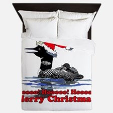 Christmas Loon Queen Duvet