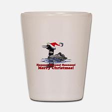 Christmas Loon Shot Glass